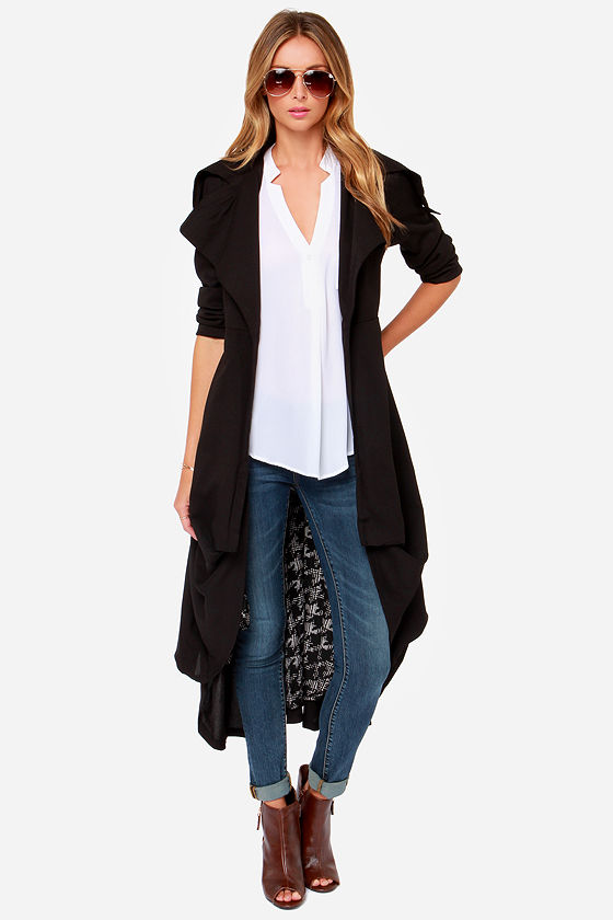 Chance of Reign Black Frock Coat at Lulus.com!