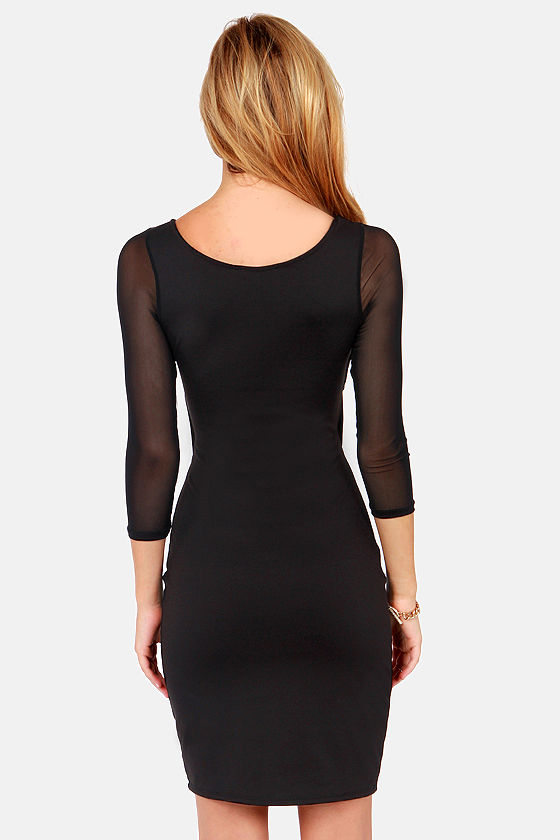 Crisscross My Heart Black Dress at Lulus.com!