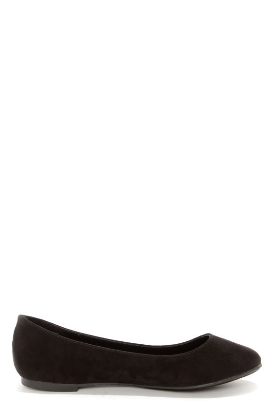 Cherry 11 Black Ballet Flats at Lulus.com!
