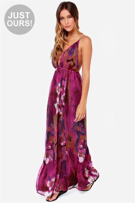 Sexy Purple Dress - Maxi Dress - Backless Dress - $49.00