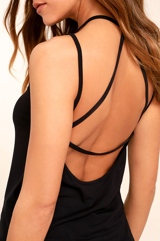 LULUS Exclusive What's Strap-pening? Black Tank Top at Lulus.com!