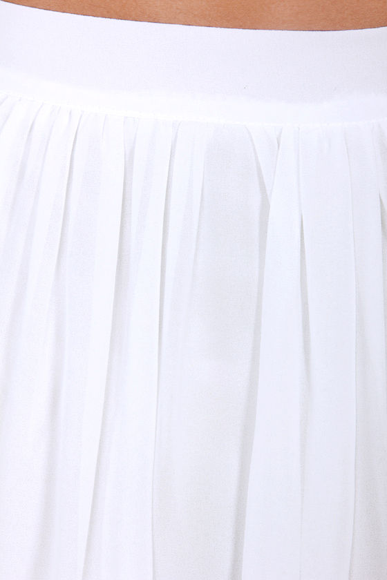 Going the Distance White Maxi Skirt at Lulus.com!