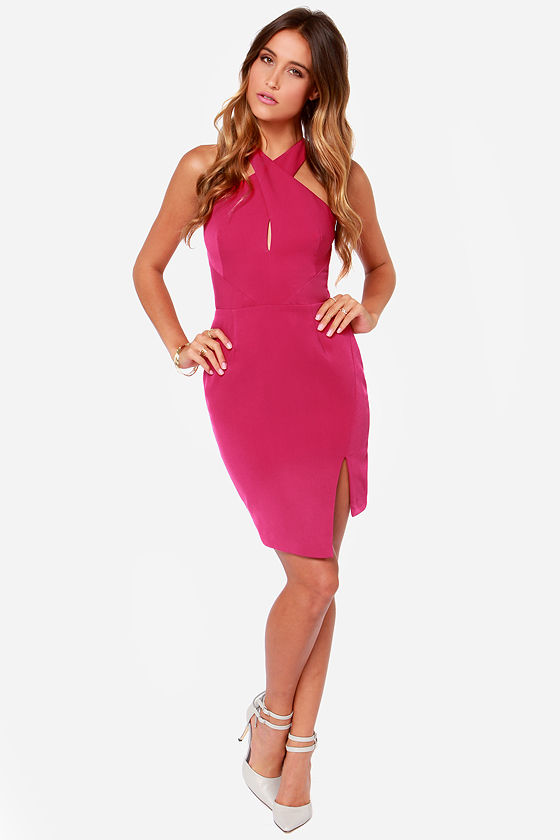Keepsake Motionless Fuchsia Dress at Lulus.com!