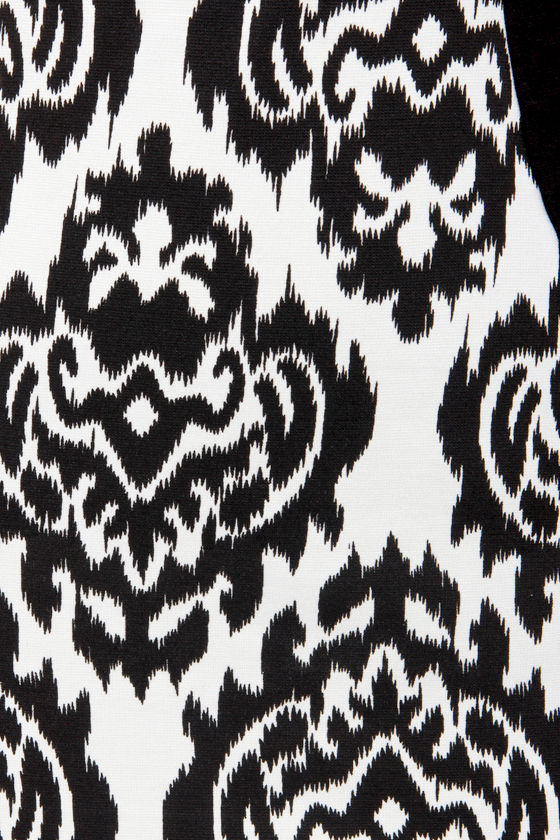 Ikat-ching Black and White Print Dress at Lulus.com!