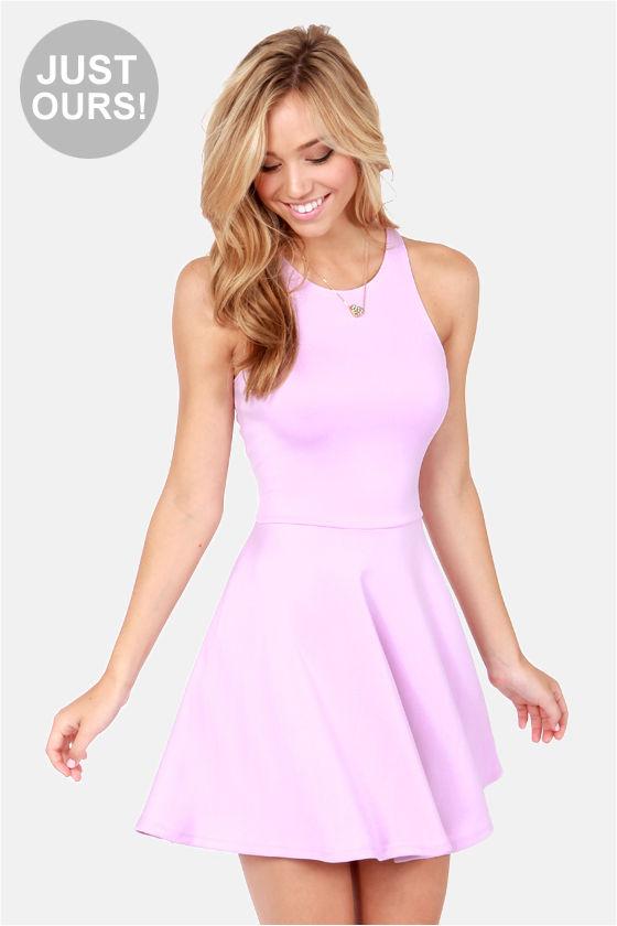Cute Racer Back Dress - Lavender Dress - Skater Dress - $39.00