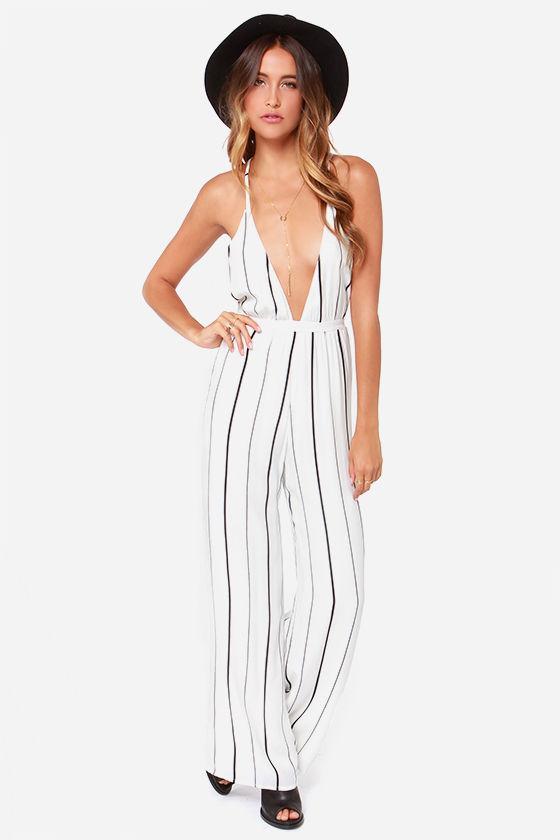 Faithfull The Brand Shutterbabe Jumpsuit White Striped