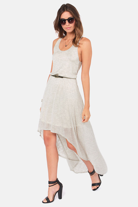 Now You Know High-Low Grey Dress at Lulus.com!
