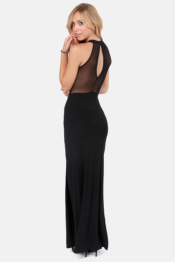 Mesh Together Black Maxi Dress at Lulus.com!