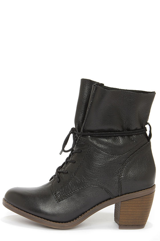 68195de7abeb Cute Black Boots - Leather Booties - Ankle Boots -  129.00
