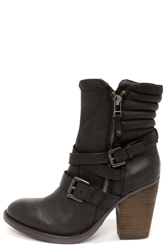 605c7a310d Cute Black Boots - Leather Boots - Ankle Boots -  169.00
