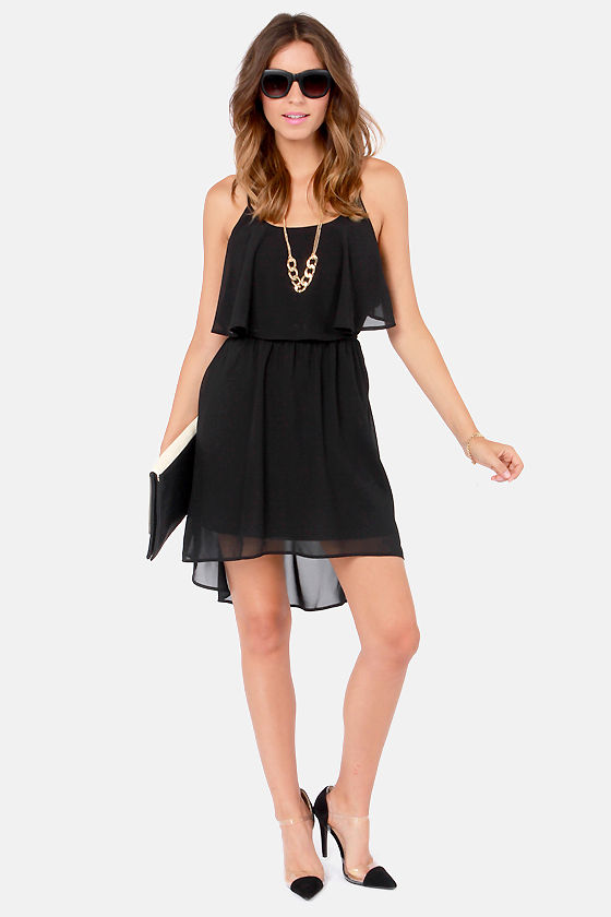 Behind Your Back Backless Black Dress at Lulus.com!