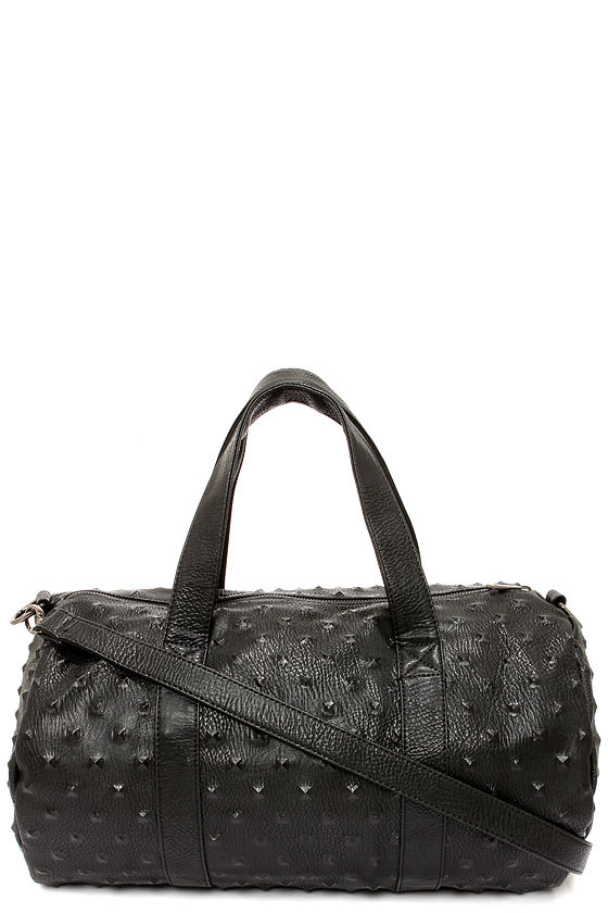 Weekend Rendezvous Black Duffle Bag at Lulus.com!