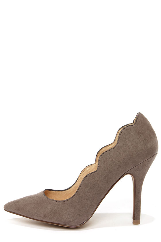 Chinese Laundry Savvy Ash Grey Suede Pointed Pumps at Lulus.com!