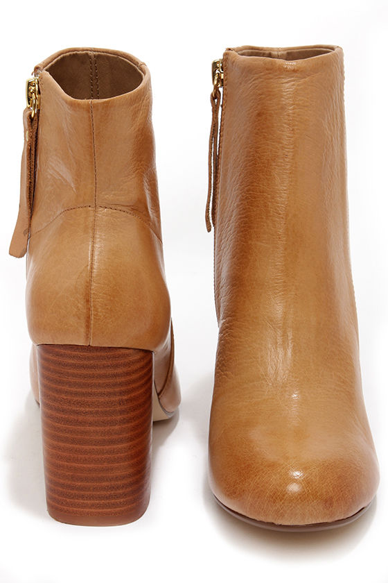 Chinese Laundry Battle Field Cognac Leather Booties at Lulus.com!