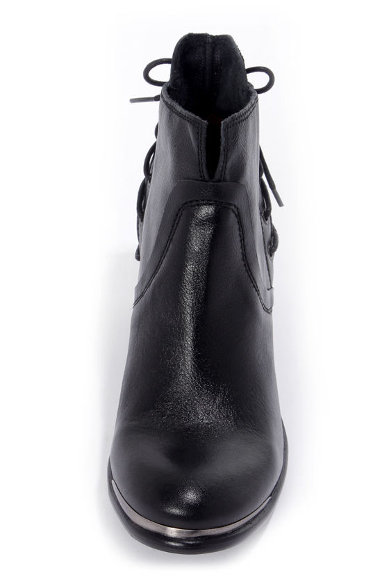 Sixtyseven Blake 75180 Floater Black Laced-Back Ankle Boots at Lulus.com!