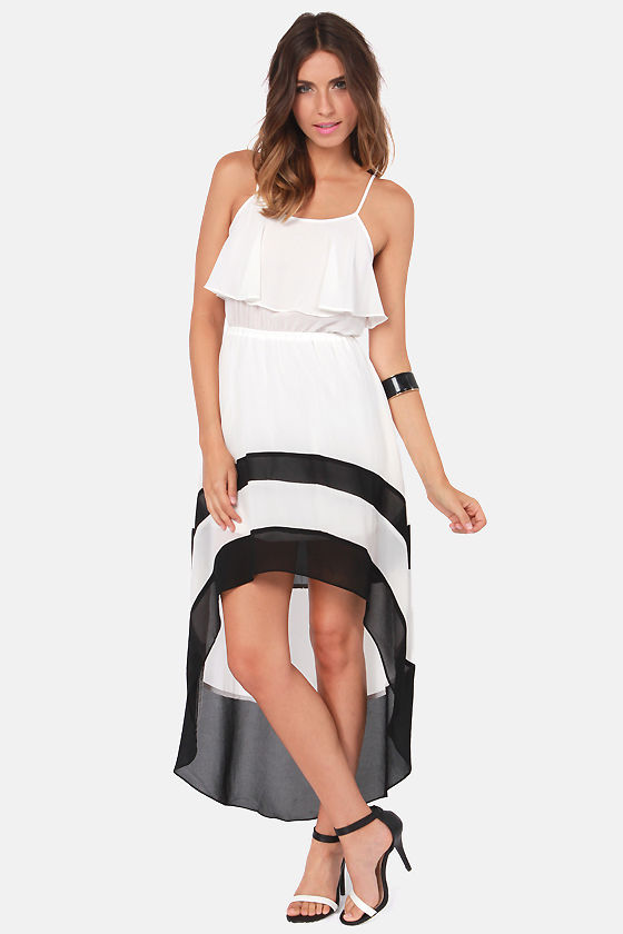 You're Riding High! High-Low Ivory Dress at Lulus.com!
