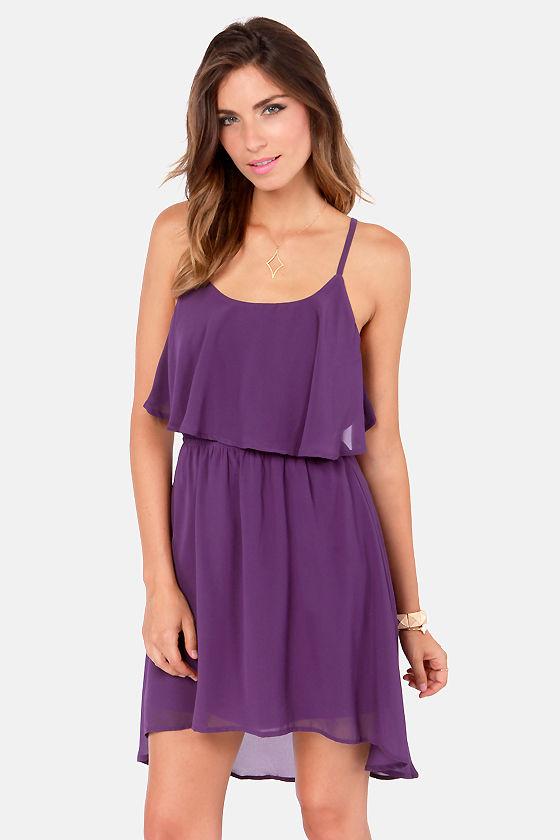 Cute Purple Dress - Backless Dress - Short Dress - $40.00