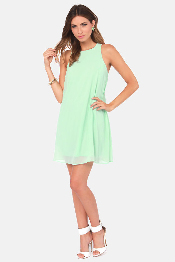 Chiff-On the Run Light Mint Dress at Lulus.com!