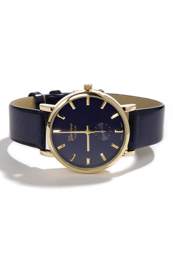 Midnight Hour Navy Blue Watch at Lulus.com!