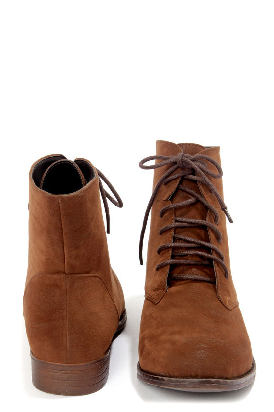 exceptional range of colors luxury browse latest collections Dollhouse Dandy Chestnut Brown Suede Lace-Up Ankle Boots