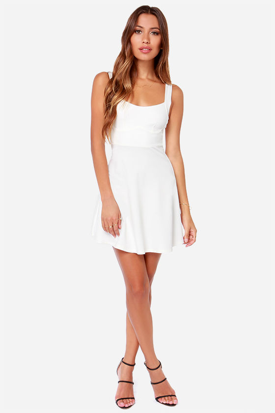 Into The Night Ivory Dress at Lulus.com!