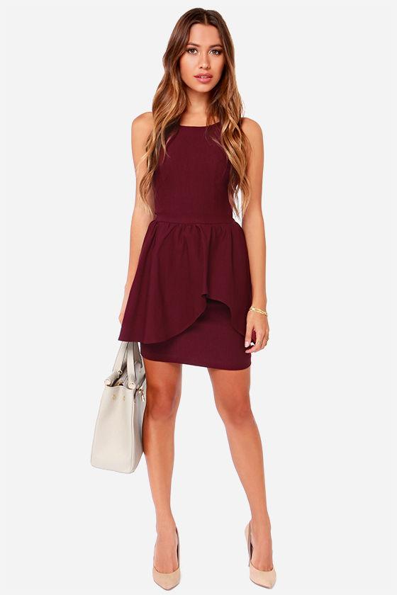 Save the Last Dance Burgundy Dress at Lulus.com!