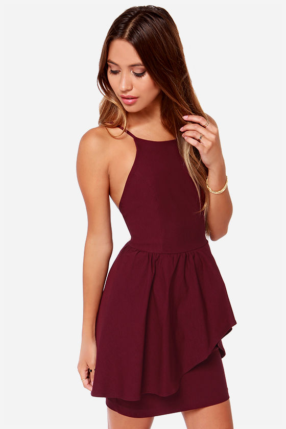cocktail dresses burgundy