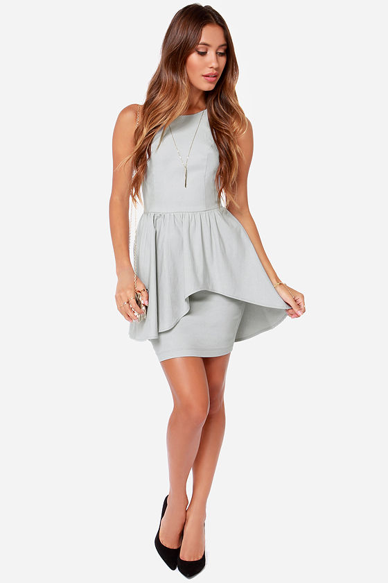 Save the Last Dance Light Grey Dress at Lulus.com!