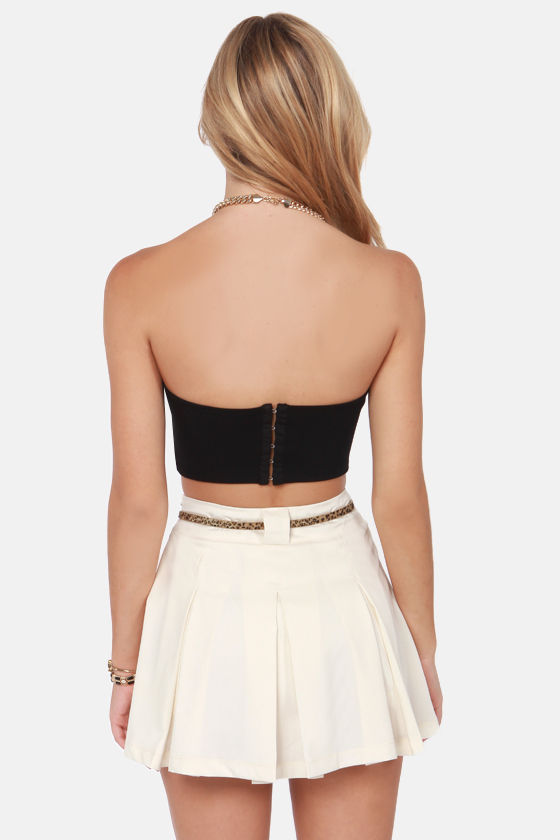 On Short Notice Black Strapless Bustier Top at Lulus.com!