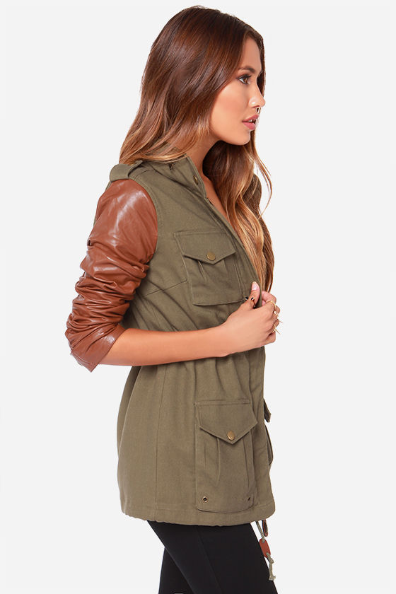 Lucca Couture Military Grade A Olive Green Jacket at Lulus.com!
