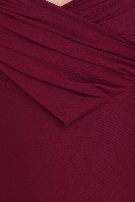 LULUS Exclusive Tricks of the Trade Burgundy Maxi Dress 6