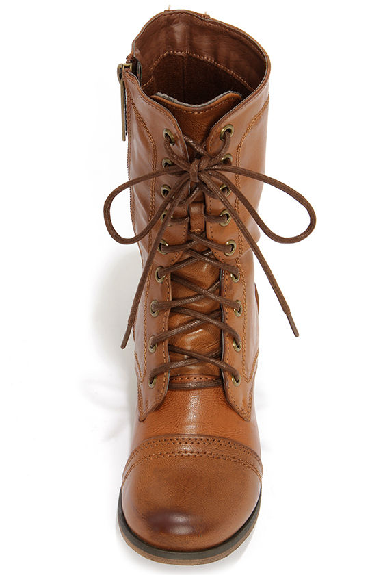 Georgia 72 Tan Lace-Up Combat Boots at Lulus.com!