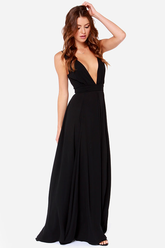 fba44e6e7f Beautiful Black Dress - Maxi Dress - Black Gown -  108.00