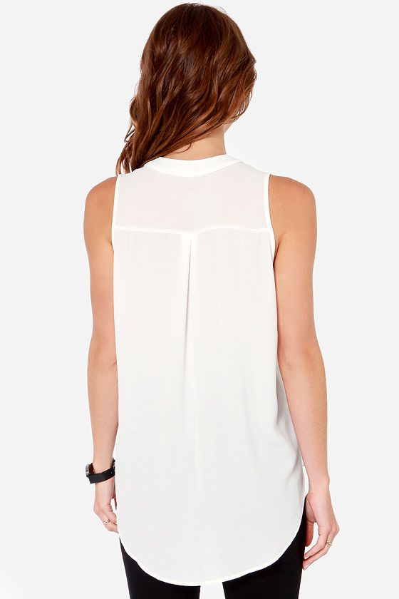 Daily Special Sleeveless Ivory Top at Lulus.com!