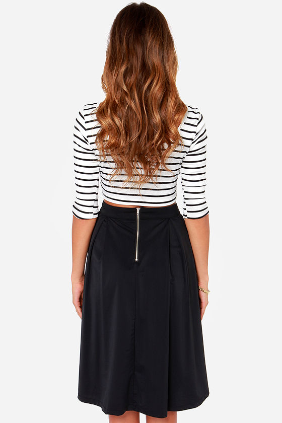 Galactic Glamour Black Midi Skirt at Lulus.com!