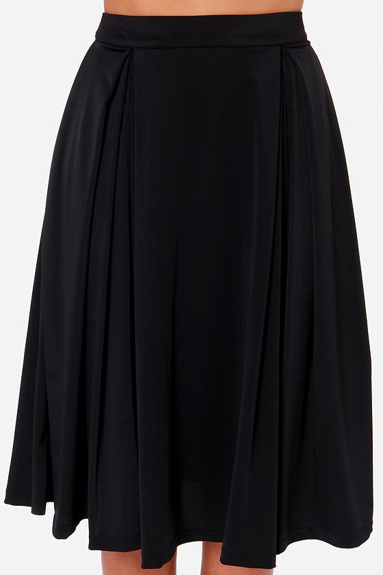 Galactic Glamour Black Midi Skirt at Lulus.com!