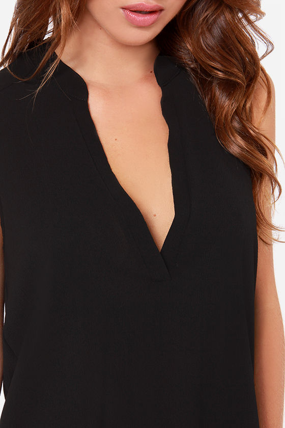 Daily Special Sleeveless Black Top at Lulus.com!