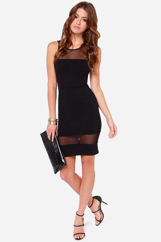 LULUS Exclusive Dance Floor Diva Black Mesh Dress at Lulus.com!