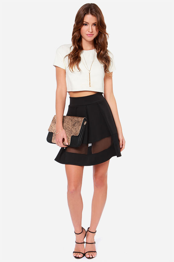 Full Throttle Black Mesh Skirt at Lulus.com!