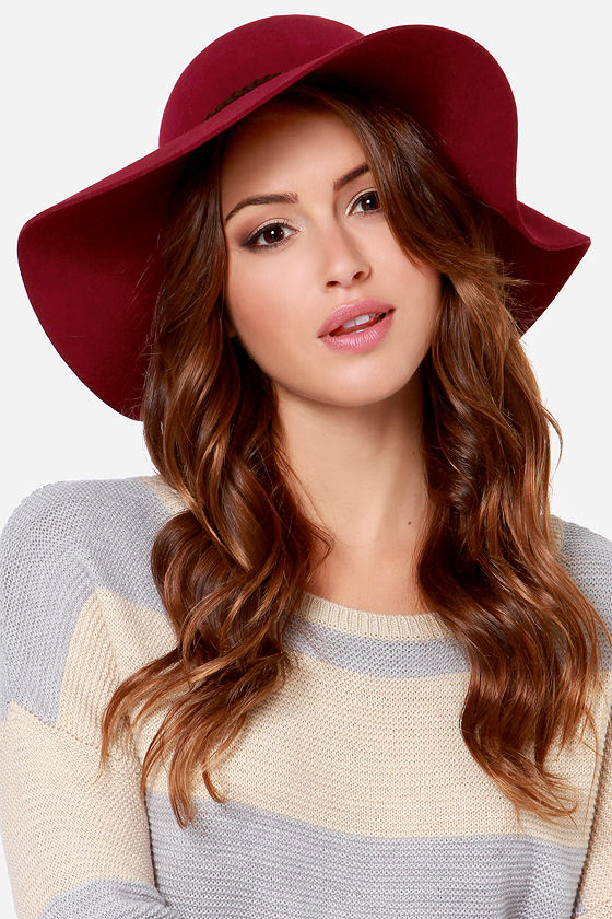 Lucy Love Almost Famus Hat - Burgundy Hat - Floppy Hat -  44.00 326be8e3134