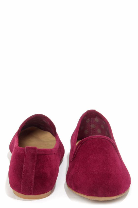 Bamboo Kiwi 18 Burgundy Smoking Slipper Flats at Lulus.com!