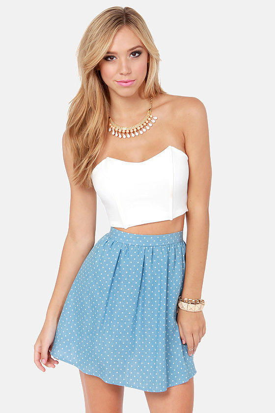 dffa6ec5f50af0 Sexy White Bustier - Structured Top - Crop Top - Tube Top - $28.00