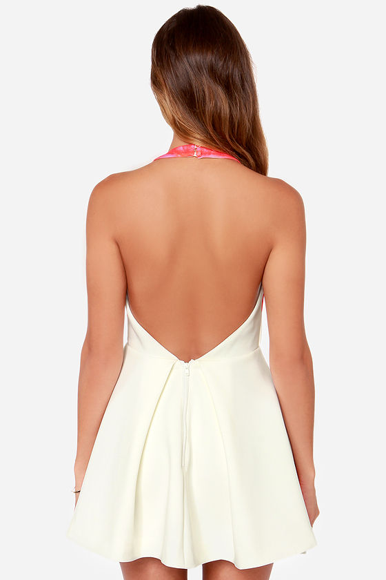 Keepsake Chained Ivory Print Mini Dress at Lulus.com!