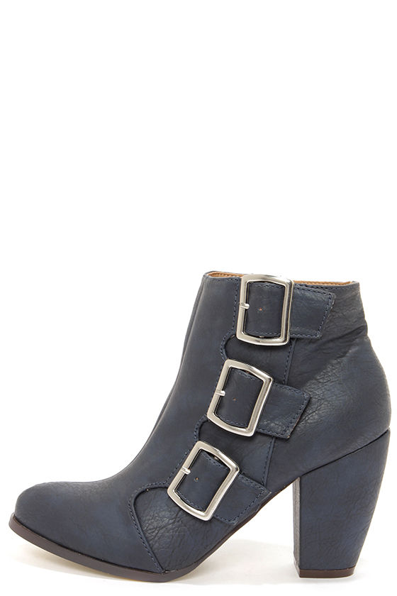 Michael Antonio Mandrake Navy High Heel Booties at Lulus.com!