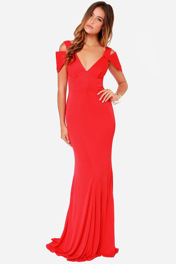 Bariano Gina Dress - Red Dress - Maxi Dress - $228.00