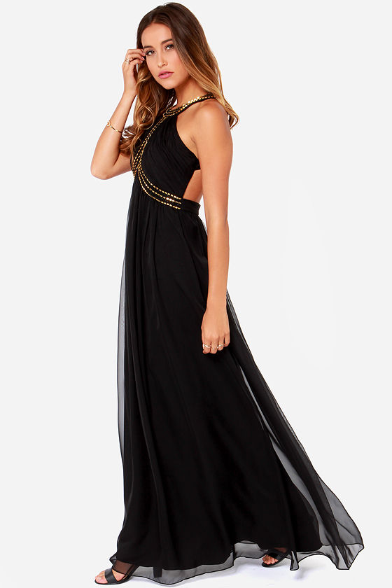 Bariano Alysha Black Maxi Dress at Lulus.com!