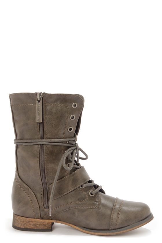 Georgia 86 Taupe Lace-Up Combat Boots at Lulus.com!