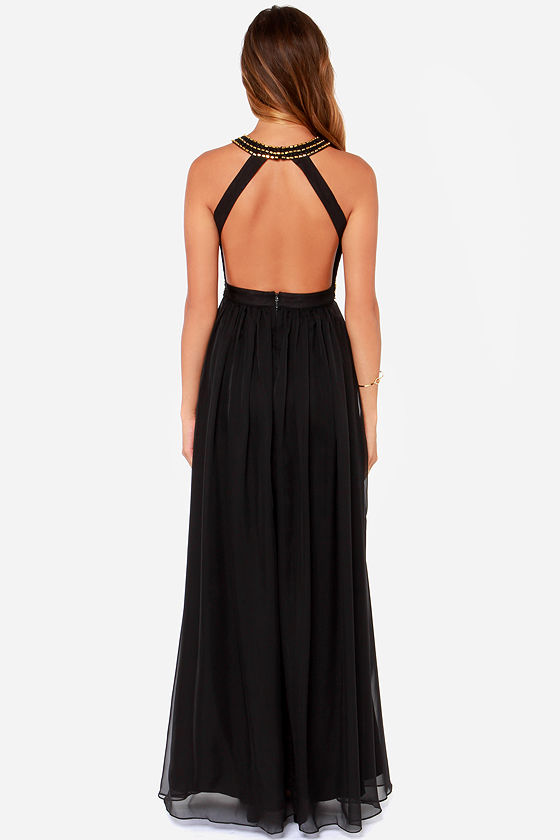Bariano Alysha Black Maxi Dress at Lulus.com!