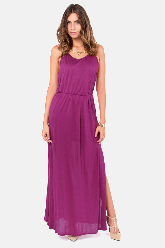Ethereal Melodies Magenta Maxi Dress at Lulus.com!