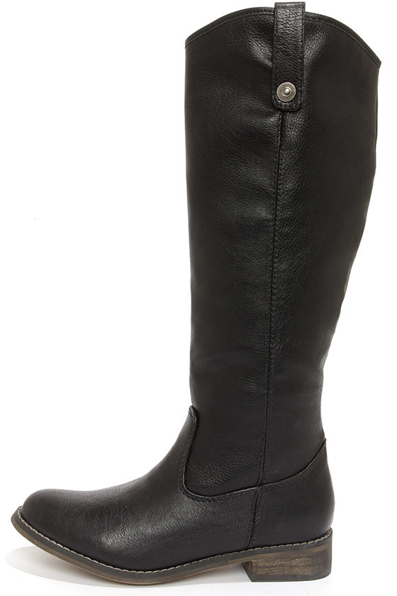 Cute Black Boots - Knee High Boots - Riding Boots - $45.00
